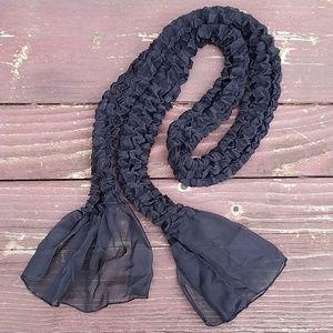Black Sheer Scarf